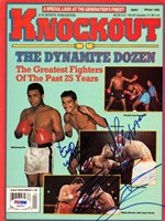 "Mike Tyson, Julio Cesar Chavez & ""Smooth Jose Napoles Autographed Magazine Cover PSA/DNA #Q90597Mike Tyson, Julio Cesar Chavez & ""Smooth Jose Napoles Autographed Magazine Cover PSA/DNA #Q90597"