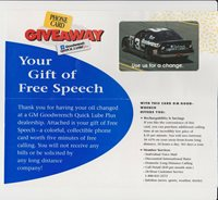 DALE EARNHARDT GOODWRENCH PHONE CARD PROMO CARD W/ENVELOPE
