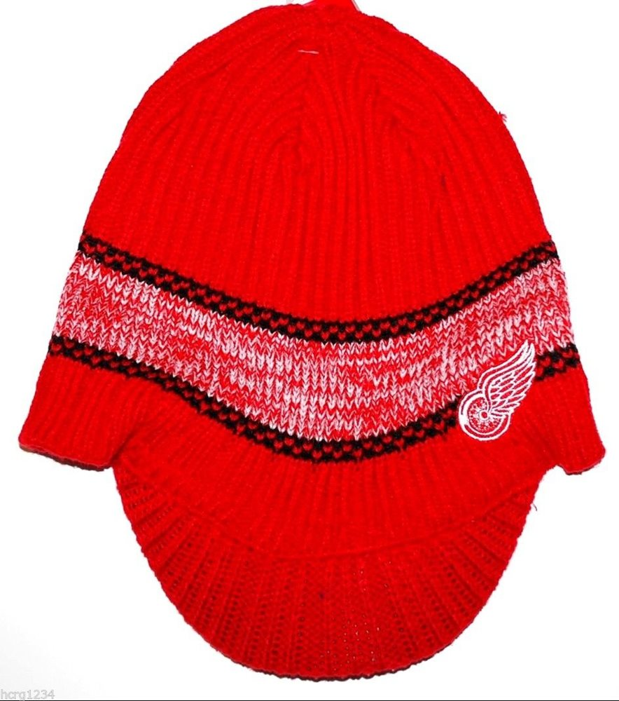 new style 47089 c174e DETROIT RED WINGS REEBOK NHL KNIT HOCKEY HAT BEANIE TOQ