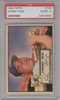 1952 Topps #129 Hall of Fame Johnny Mize PSA 6