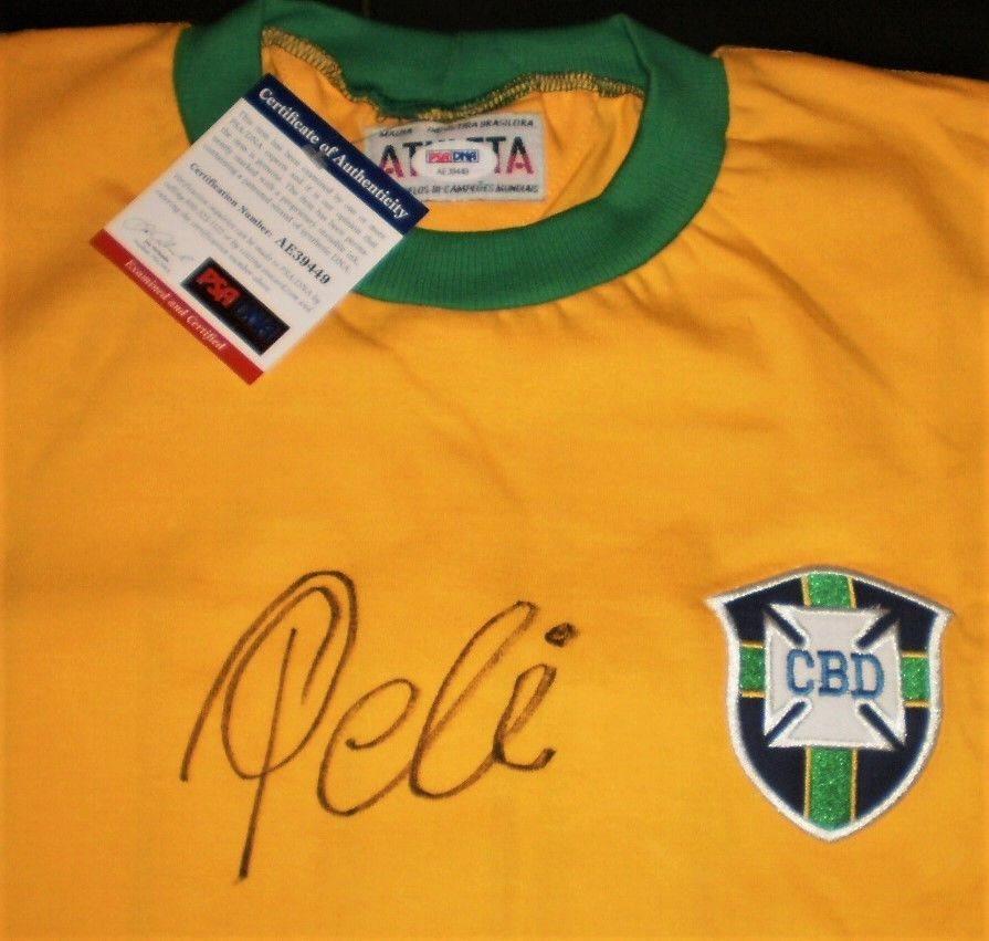 5eb7daec0 PELE Signed New York Cosmos Jersey Team Brazil World Cu