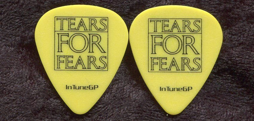 TEARS FOR FEARS 2010 Tour Guitar Pick!! CURT SMITH custom concert stage Pick #3