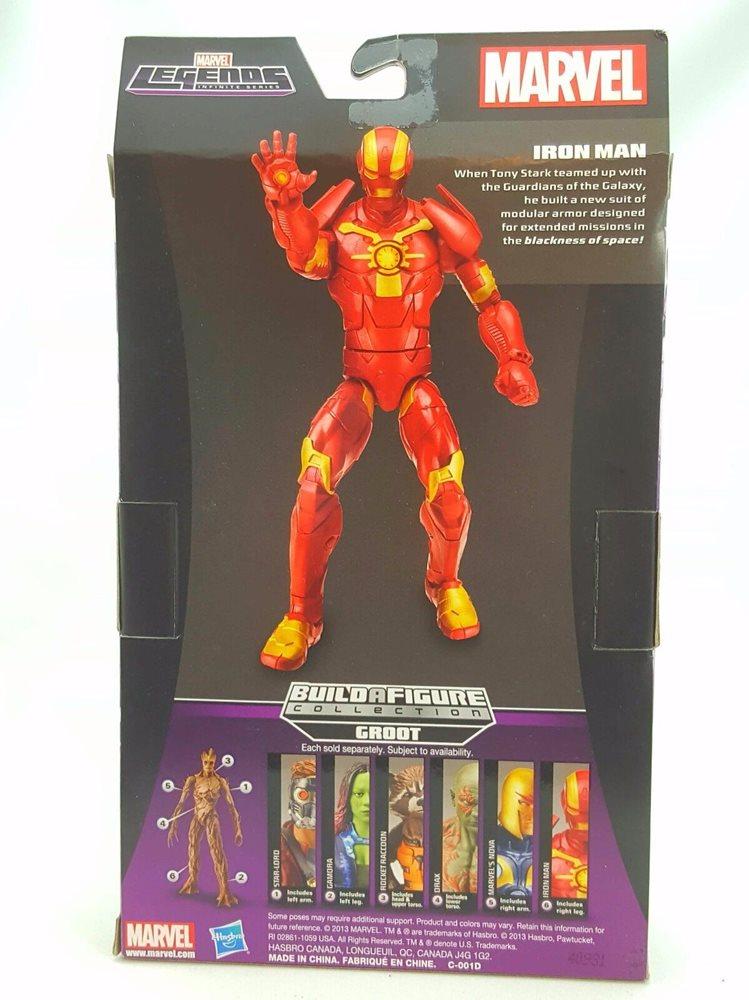 Iron Man Marvel Legends Infinite Series Guardians Galaxy Groot BaF  NEW