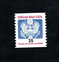 Modern Official O141 Coil Single (1983-2009) MNH