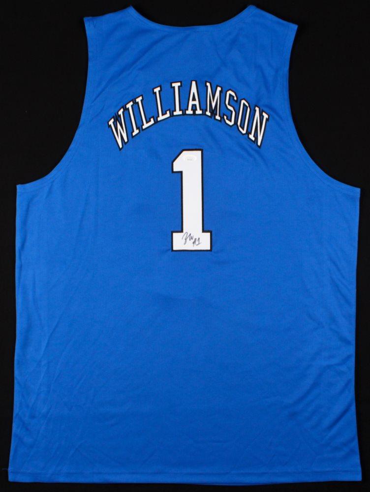 low priced 378ed e8d6a Zion Williamson Signed Duke Blue Devils Jersey (PSA COA)