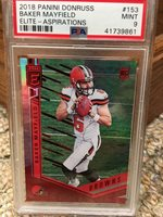 2018 Panini Donruss #153 Baker Mayfield Elite Aspirations /94 PSA 9
