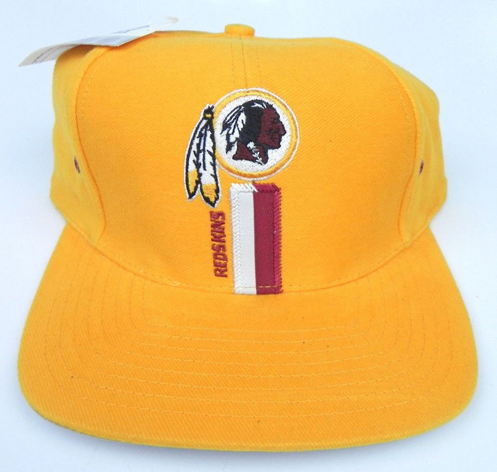 995332258ef66 WASHINGTON REDSKINS NFL YELLOW LOGO ATHLETIC 1990s VINT