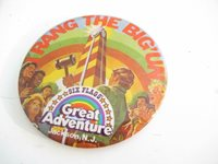 """OLDER COLLECTIBLE GREAT ADVENTURE NJ 4"""" PIN - GOOD- W20"""