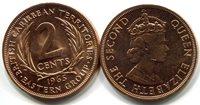 British Caribbean Territories 2 Cent 1965 New (CU)Other Caribbean Islands Currency Queen Elizabeth IICoin