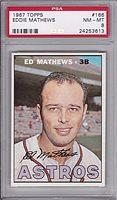 1967 Topps #166 Eddie Mathews PSA 8 NM/MT HOF 3rd Baseman Houston Astros