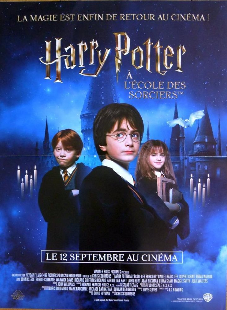 Harry Potter And The Sorcerers Stone Rowling Reissue French Movie Poster