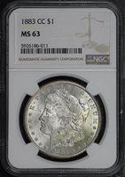 1883-CC $1 MS63 NGC