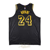 bbe08a4eb323 Kobe Bryant Autographed Nike City Edition Black Authentic Jersey ...