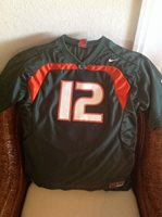 Miami Hurricanes #12 Nike Green football Jersey Size XL (18-20) Youth