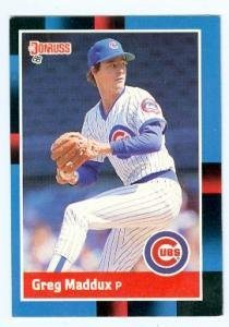 Greg Maddux Baseball Card Chicago Cubs 1988 Donruss 539