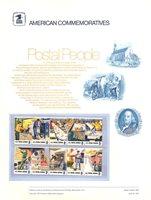 1489-98 8c Postal People USPS Cat. # 14 USPS Commemorative Pane[cp014]