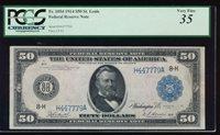 Fr. 1054 1914 $50 Federal Reserve Note Saint Louis PCGS 35 comment H447779A
