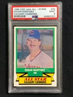 1989 CMC AAA All-Stars//Future Stars #34 Edgar Martinez Calgary Cannons Card
