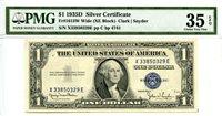 $1 1935D Silver Certificate Fr#1613W Wide (XE Block) PMG Choice VF 35 EPQ PB424