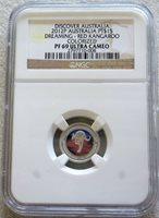 2012 P PLATINUM AUSTRALIA 456 MINTED $15 RED KANGAROO NGC PROOF 69 ULTRA CAMEO