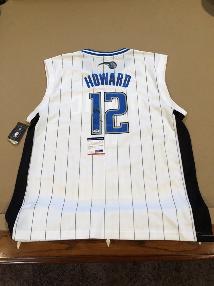 watch 24e7b 85169 Dwight Howard Signed Custom Orlando Magic Jersey w/ PSA COA Rockets NBA  STAR MVP