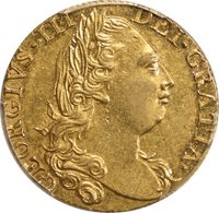 Great Britain 1775 George III Gold Guinea PCGS AU-58
