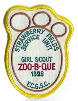 Girl Scouts/Brownies Vintage Patch - Zoo-B-Que