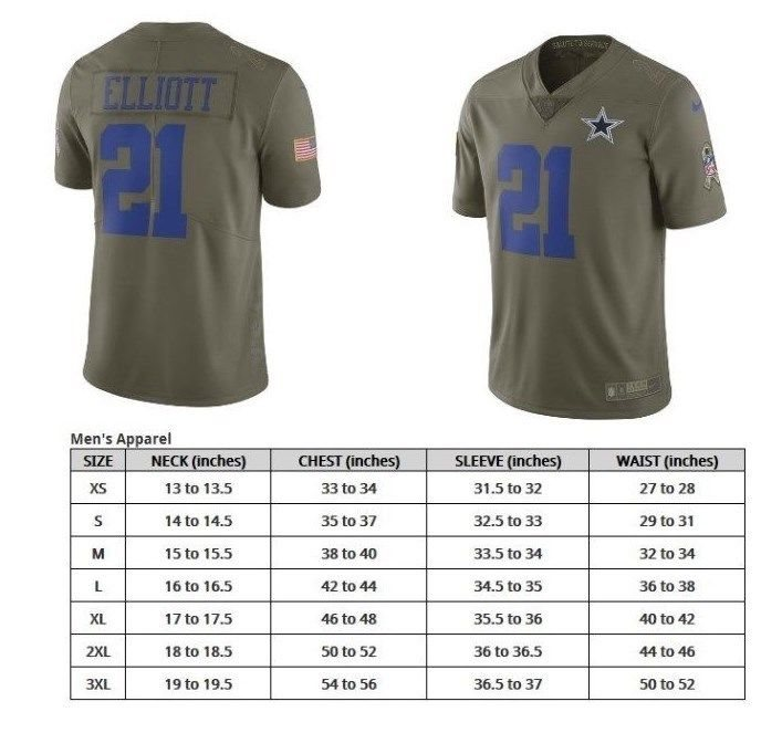 size 40 4eed1 41735 Ezekiel Elliott Dallas Cowboys Nike Salute To Service Jersey Olive Authentic