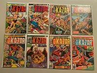 Ka-Zar lot 11 different from #1-20 avg 4.0 VG #1 is 6.0 FN (1974 2nd Series)   Comic Books - Bronze Age, Marvel, Ka-Zar, Jungle