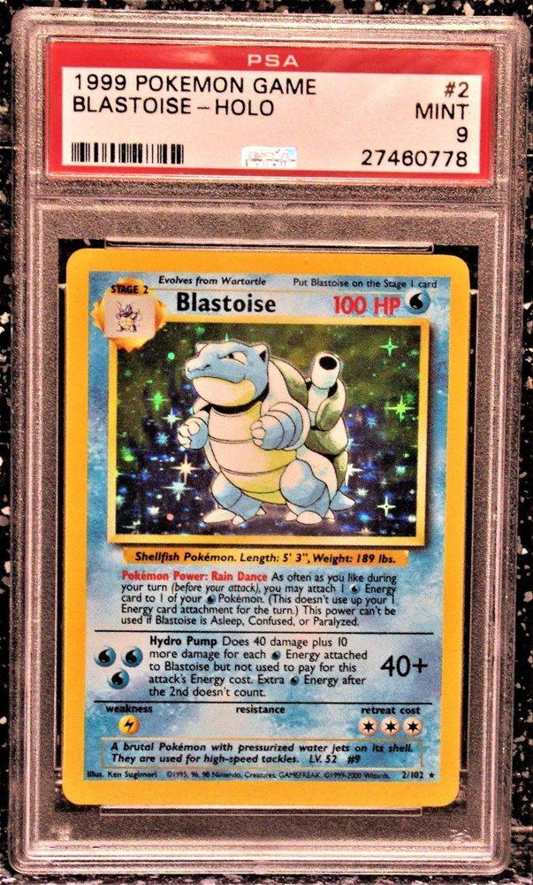 Blastoise Holo 2//102 Base Set Pokemon 4th Print UK 1999-2000  Rare