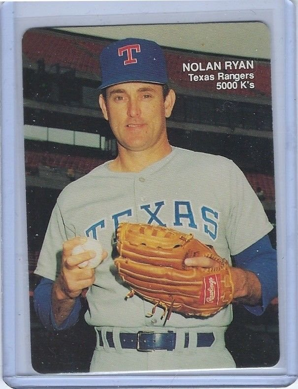 1990 Mothers Cookies Nolan Ryan 1 Texas Rangers Hof 5000 Ks