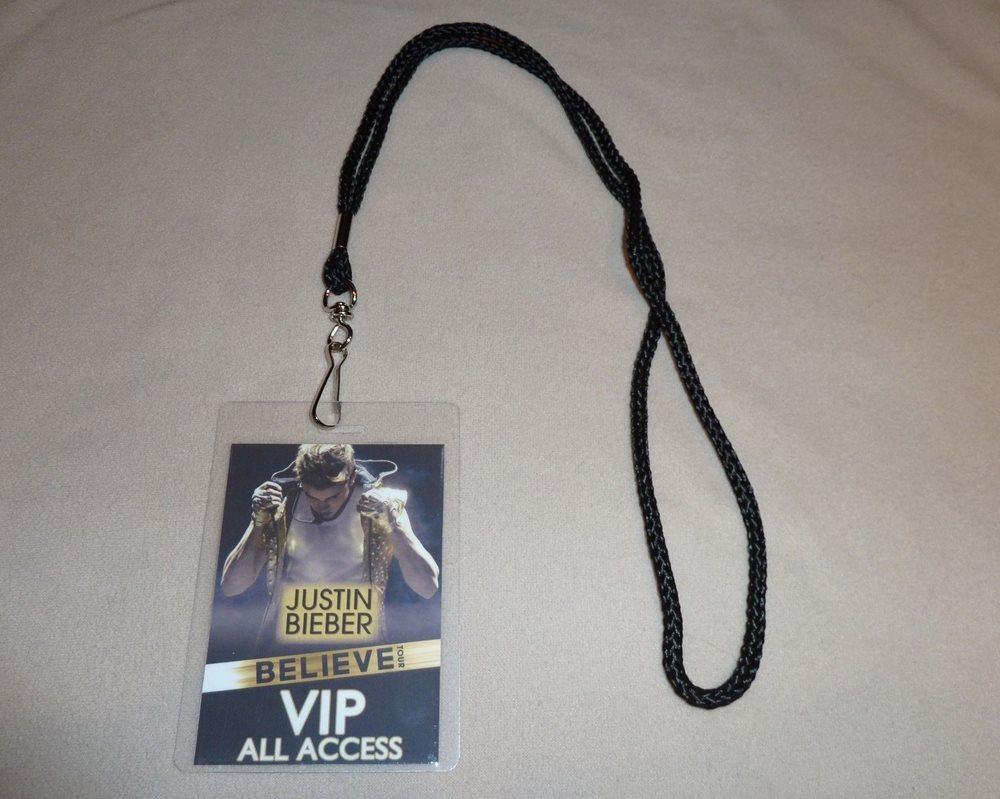 Justin bieber believe tour vip pass lanyard meet gr m4hsunfo