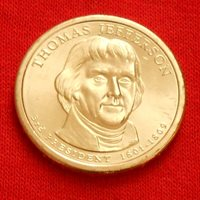 2007 THOMAS JEFFERSON PRESIDENTIAL $1 COIN, D, DENVER MINT, FREE SHIPPING