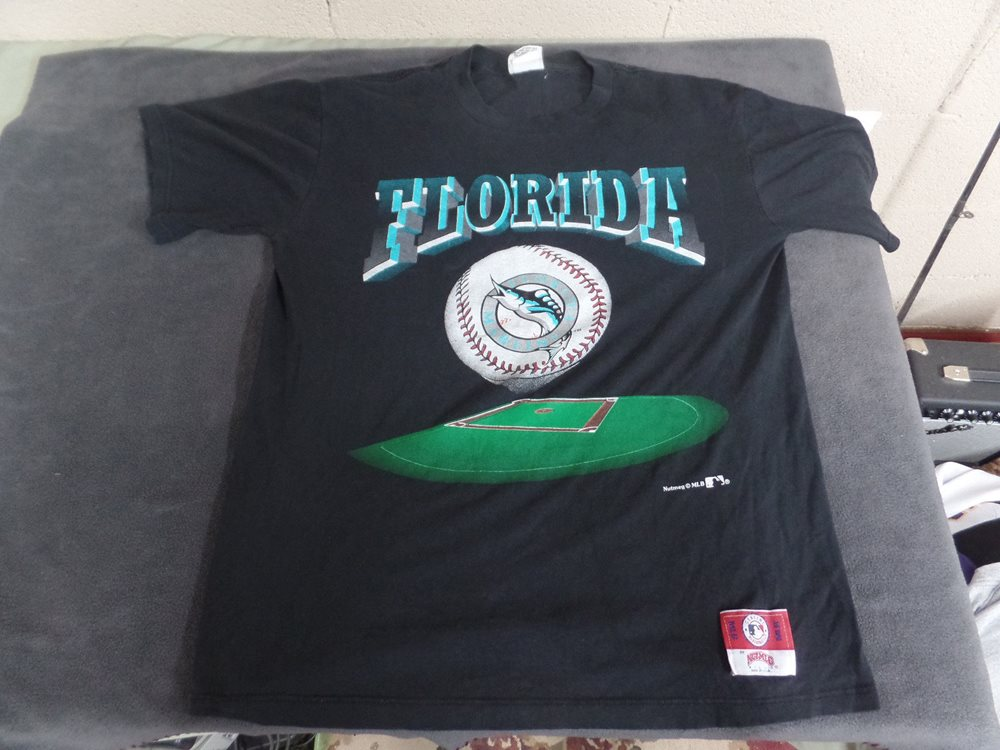 cbb9b0f0f ... store vintage florida marlins t shirt nutmeg usa size large m 1d96a  24a6c
