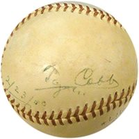 Ty Cobb Autographed Baseball (JSA)