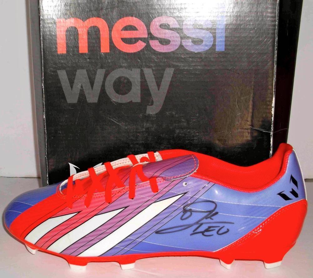 80c1a659d87 Lionel Messi Autographed Adidas Soccer Shoe. Click To Enlarge