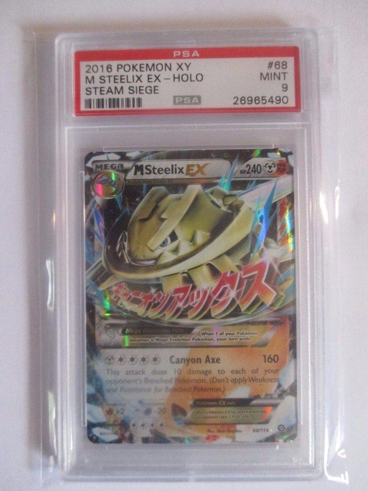 NM-Mint!!! Ultra Rare - x1 Mega M Steelix EX Steam Siege 68//114 - XY