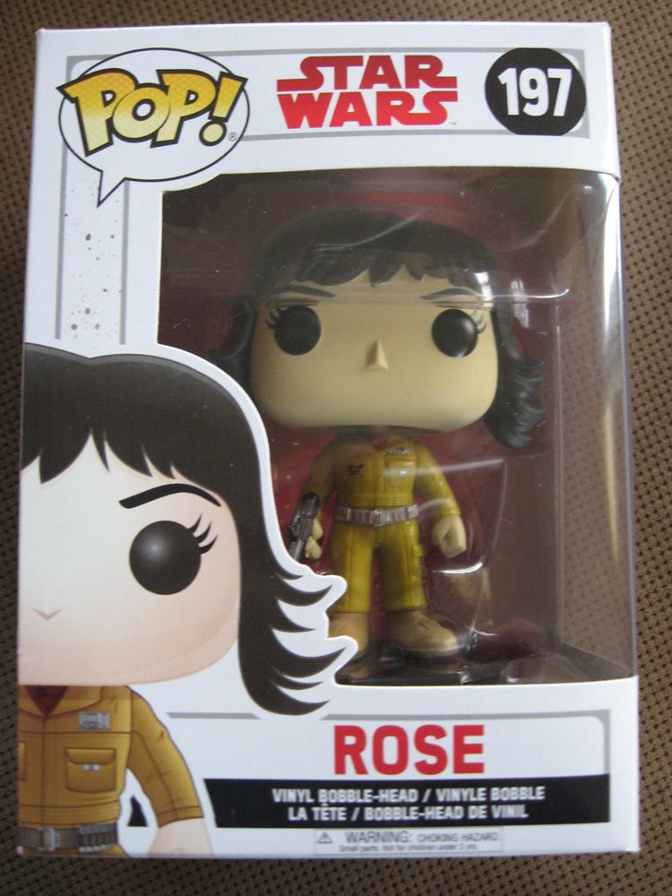 Funko Pop Star Wars-ROSE VINILE BOBBLE-HEAD NUOVO 197