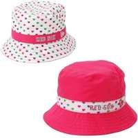 f86a8d8d3d8cf Boston Red Sox New Era Toddler White Pink Bucket Toss Hat