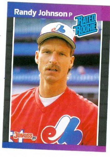 Randy Johnson Baseball Card 1989 Donruss Rated Rookie 42 Montreal Expos Mariners Diamondbacks Hall Of Famer Rookie Card
