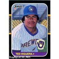 Teddy Higuera 1987 Donruss Baseball Card 49 Milwaukee Brewers