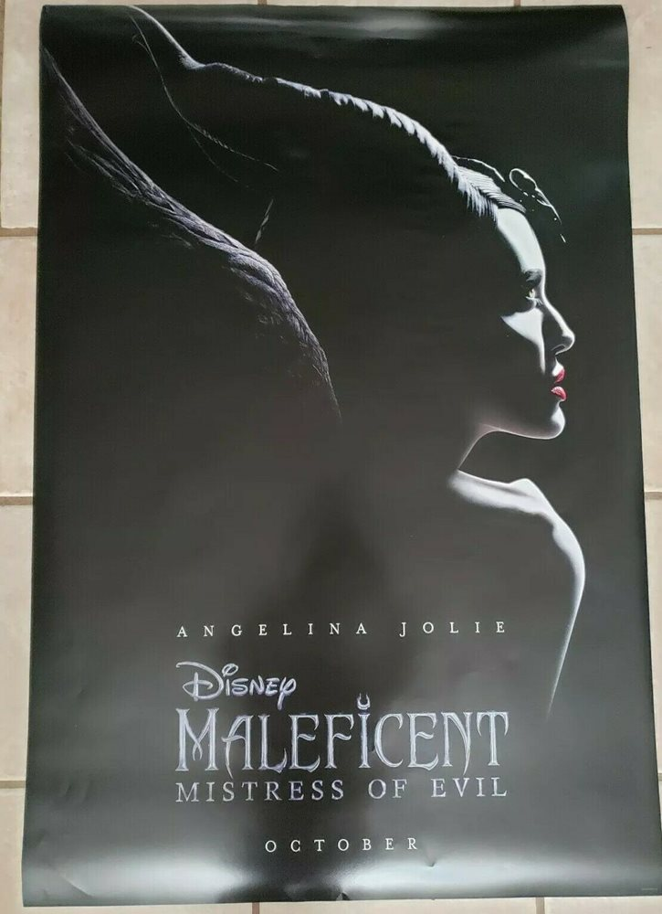 Maleficent Mistress Of Evil 27x40 D S Movie Theater Teaser Poster Angelina Jolie