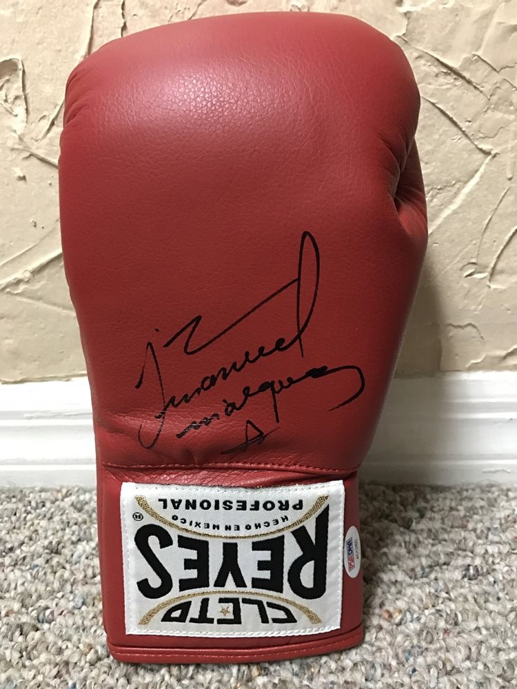 JUAN MANUEL MARQUEZ SIGNED AUTO CLETO REYES BOXING GLOVE PSA PERFECT SIG 2