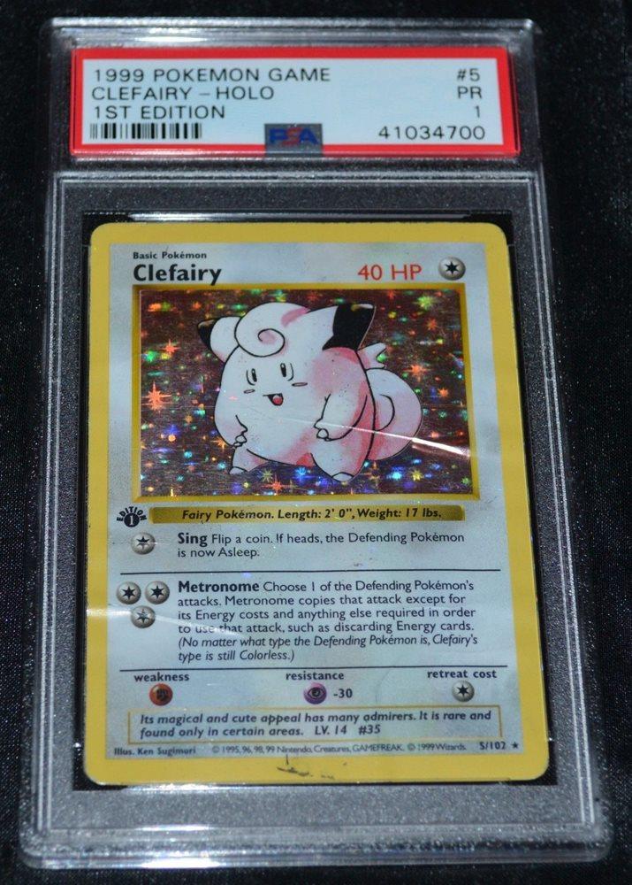Mint Original Clefairy Holo Base Set Collection 5//102 Classic Pokemon Card PSA