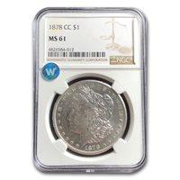 1878-CC Morgan Dollar MS-61 NGC - SKU#20632