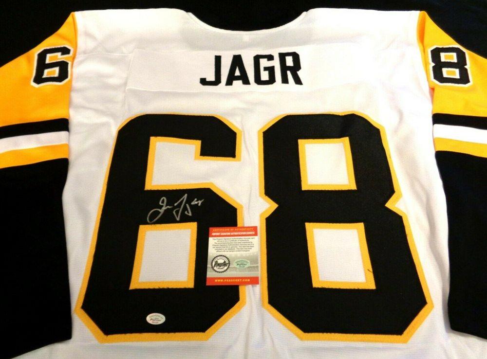 newest 0ea50 bad49 JAROMIR JAGR Autographed Signed Penguins Jersey w/ PSAS COA - NO RESERVE!
