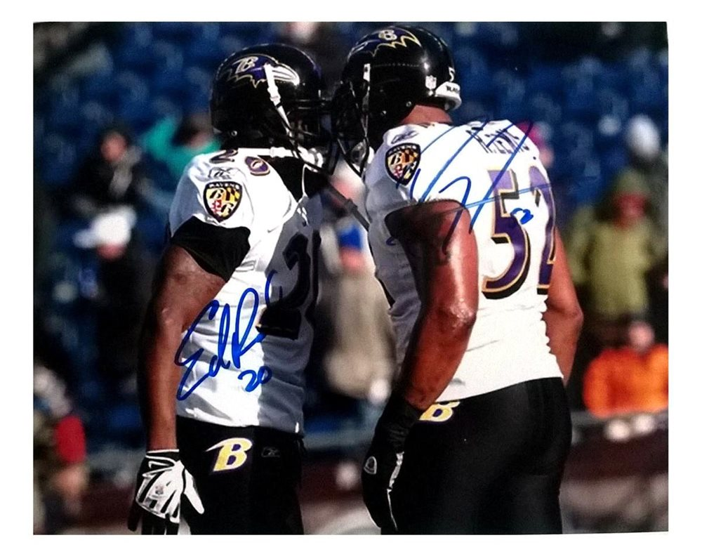 finest selection 04dd5 809cf Ed Reed & Ray Lewis Autographed 8x10 Photograph