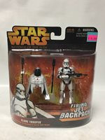 Hasbro Star Wars Revenge Of The Sith Clone Trooper With Firing Jet Backpack & Spring Open Wings!