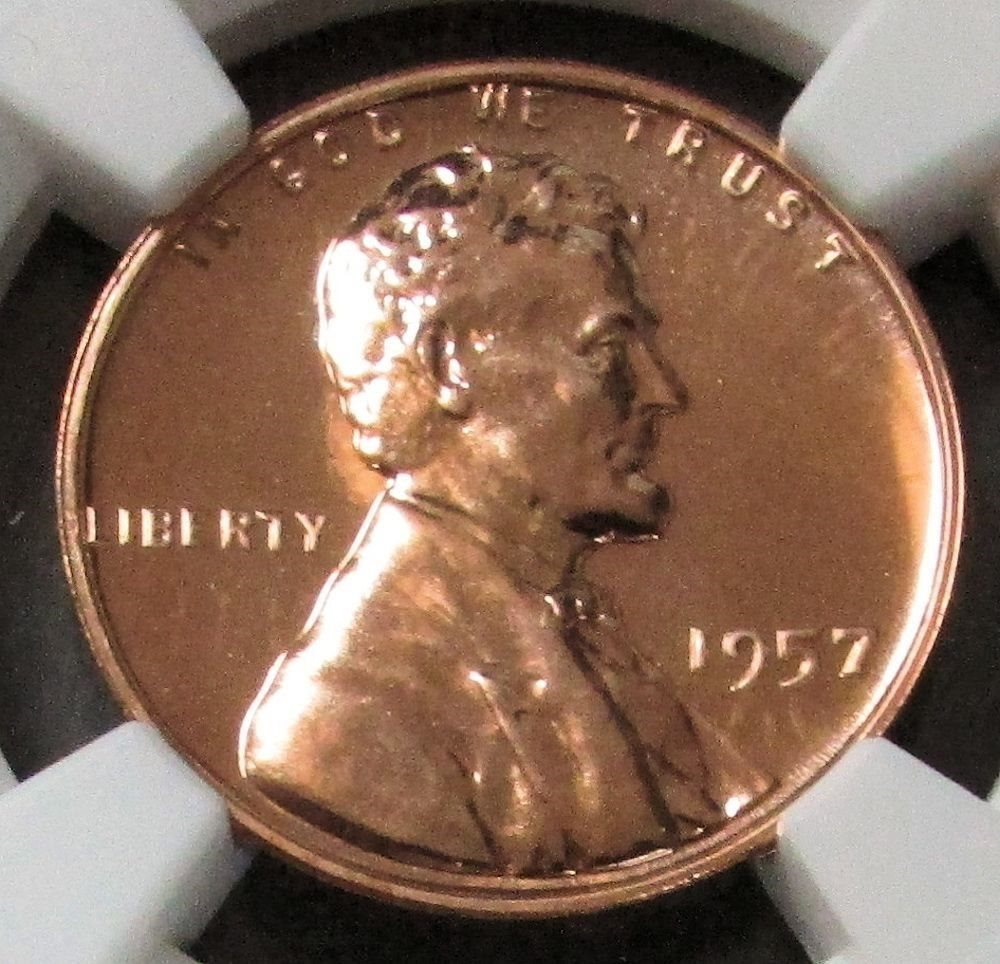1957 PROOF LINCOLN CENT NGC PF67RD