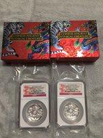 2016 Australia Tuvalu Mythical Creatures 1 Oz SET Dragon Silver Coin NGC PF70 UC